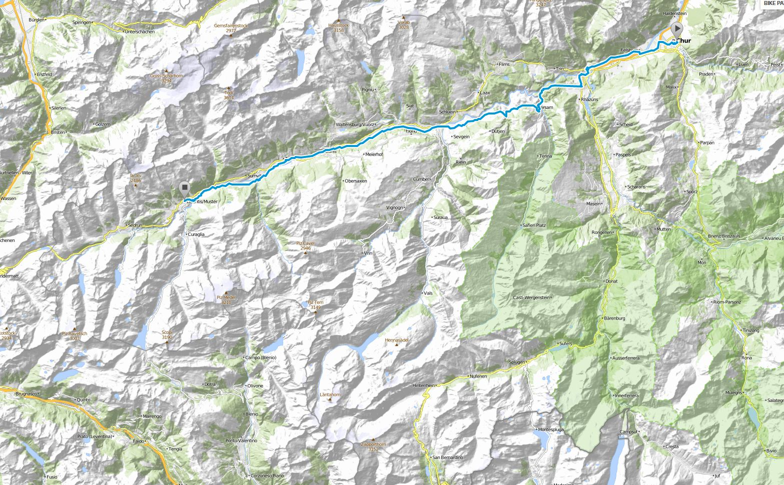 Höhenmeter Karte.Hinterland Piemont Anreise Rad